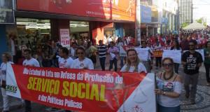 Grande ato público marcou o Dia Estadual de Lutas em Defesa da Profissão do Serviço Social e das Políticas Públicas