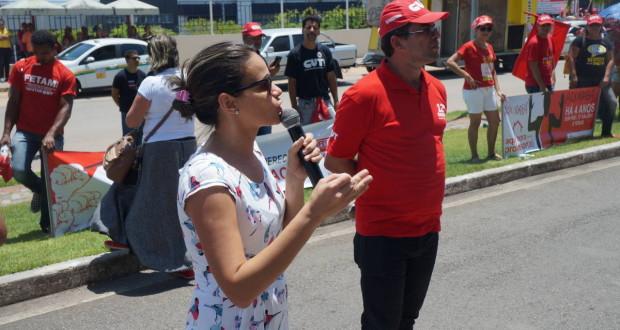 CRESS/SE participa de ato público em apoio aos servidores municipais
