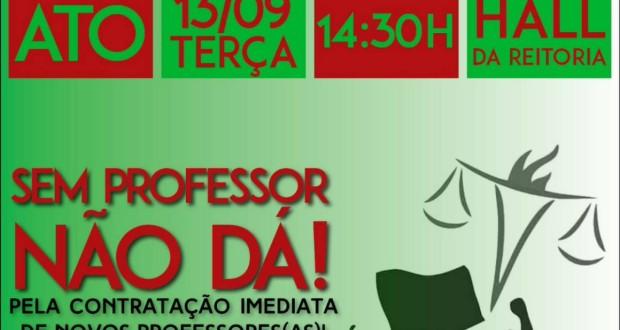 CRESS/SE apoia estudantes na luta pela contratação de professores para o DSS/UFS