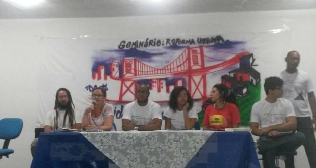CRESS debate direito à cidade durante seminário na UFS