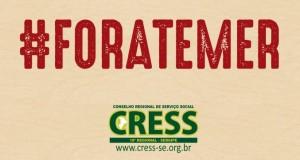 CRESS/SE convida assistentes sociais para resistência ao Golpe