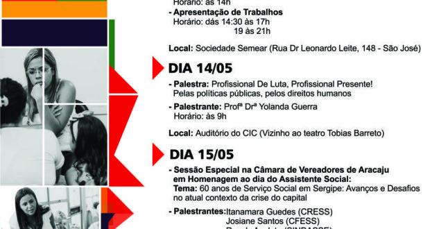 PROGRAMAÇÃO DA SEMANA DO/A ASSISTENTE SOCIAL 2015