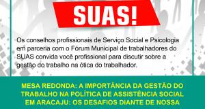Mesa redonda debate gestão do trabalho na ótica do trabalhador do SUAS
