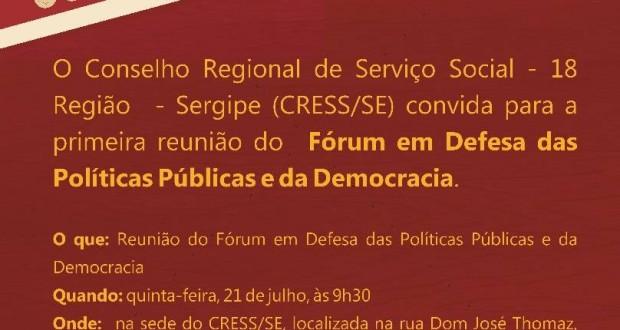 Fórum em Defesa das Políticas Públicas e da Democracia se reúne nesta quinta-feira
