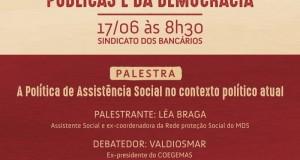 Ex coordenadora do MDS participa do lançamento do Fórum em Defesa das Políticas Públicas e da Democracia